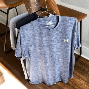 3 under armor athletic t shirts